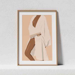 Affiche d'une illustration digitale de l'art nu