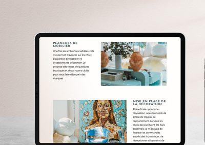 Site web décoratrice d'intérieur